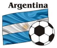 Argentina och fotboll stock illustrationer