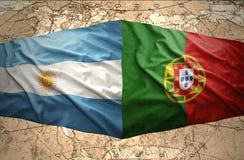 Argentina och Portugal stock illustrationer
