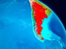 Argentina på jord Arkivbild