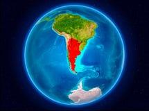Argentina på jord Fotografering för Bildbyråer
