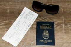 Argentina Passport Stock Photos