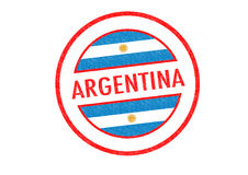 ARGENTINA. Passport-style ARGENTINA rubber stamp over a white background Royalty Free Stock Images
