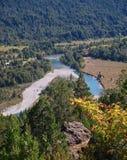 Argentina patagonia landscape river mountains el bolson Royalty Free Stock Photo