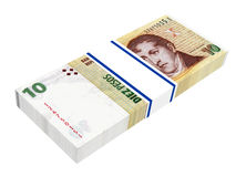 Argentina pesos isolated on white background. Royalty Free Stock Images