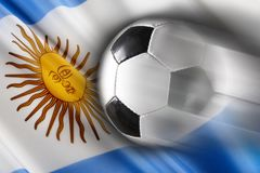 argentina piłka nożna royalty ilustracja