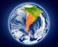 Argentina on planet Earth Royalty Free Stock Photo
