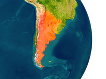 Argentina on planet Stock Photography
