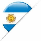 Argentina Pocket Flag. Nice envelope with a circular Argentina flag in it Stock Image