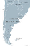 Argentina political map Royalty Free Stock Photo