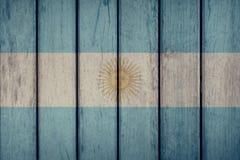 Argentina Flag Wooden Fence. Argentina Politics News Concept: Argentine Flag Wooden Fence stock image