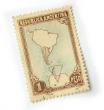 Argentina Postage Stamp royalty free stock photos