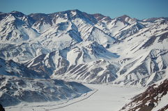 argentina räknade bergskedjasnow royaltyfri bild