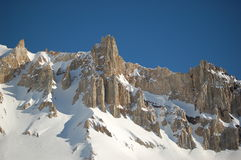 argentina räknade bergskedjasnowsolsken royaltyfria bilder