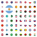 Argentina round flag icon. Round World Flags Vector illustration Icons Set. Argentina round flag icon. Round World Flags Vector illustration Icons Set Royalty Free Stock Image