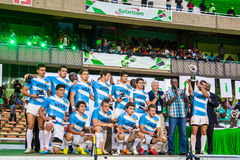 Argentina rugbySevens lag Arkivfoton