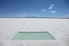 Argentina Salt Flats Royalty Free Stock Photography