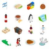 Argentina set icons Royalty Free Stock Photo