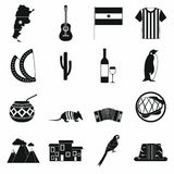 Argentina set icons Royalty Free Stock Images