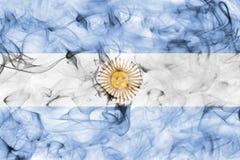 Argentina smoke flag. Isolated on a white background stock photo