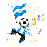 Argentina Soccer Fan with Ball Royalty Free Stock Photography