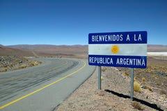 argentina som ska välkomnas Arkivbild