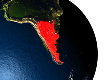 Argentina from space Royalty Free Stock Images