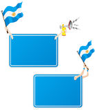 Argentina Sport Message Frame with Flag. Vector - Argentina Sport Message Frame with Flag. Set of Two royalty free illustration