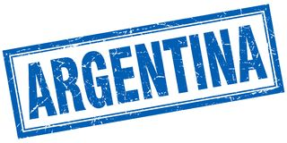 Argentina stämpel stock illustrationer