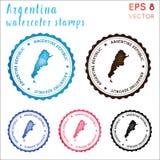 Argentina stämpel vektor illustrationer