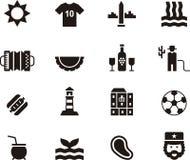 Argentina symbolsuppsättning stock illustrationer