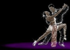 Argentina tango. The man and the woman dance a tango Royalty Free Stock Photo