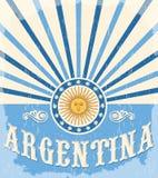 Argentina tappningkort - affischvektorillustration vektor illustrationer