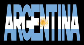 Argentina text with flag Royalty Free Stock Photo