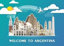 Argentina travel background Landmark Global Travel And Journey I. Nfographic Vector Design Template. illustration Royalty Free Stock Photo