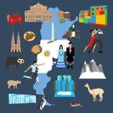 Argentina travel illustration Royalty Free Stock Image