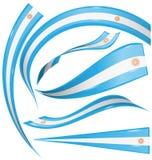 Argentina uppsättningflagga vektor illustrationer