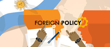Argentina US foreign policy diplomacy international relations between country in the world Stock Photos