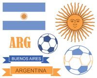 Argentina. Vector illustration (EPS 10 Stock Photography