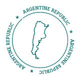 Argentina vector map. Royalty Free Stock Images