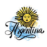 Argentina vintage card - poster vector illustration, argentina flag colors, grunge effects can be easily removed Royalty Free Stock Image