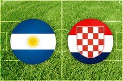 Argentina vs Kroatienfotbollsmatch stock illustrationer