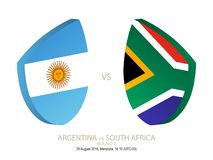 Argentina vs South Africa, 2018 Rugby Championship, round 2. Argentina vs South Africa, 2018 Rugby Championship, round 2 vector illustration