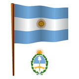 Argentina wavy flag Stock Photography