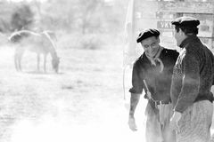 Argentina workers in the field Stock Photography