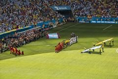 Argentina 1 X 0 Belgium - World Cup 2014 - Brazil Royalty Free Stock Photography