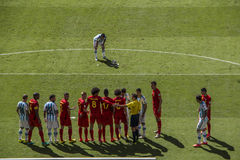 Argentina 1 X 0 Belgium - World Cup 2014 - Brazil Stock Image