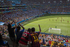 Argentina 1 X 0 Belgium - World Cup 2014 - Brazil Royalty Free Stock Photos