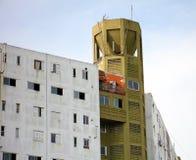 Argentinaren renoverade lägenheter i fattig sida av den Buenos Aires staden royaltyfri foto