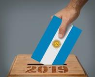 Argentinas总统选举2019年概念 库存图片