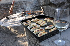 Argentinas y vino de Empanadas Imagen de archivo